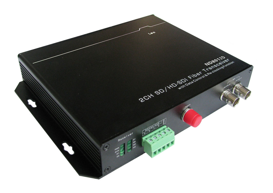 Plug And Play 60km HD SDI Converter , SD Auto Detection Optical Transceiver