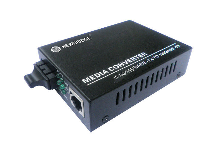 10 100 1000M Fast Ethernet Media Converter 1310nm SC 130mm * 86mm * 26mm