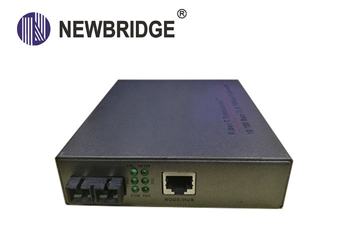Industrial 10 100M Media Converter Ethernet To Optical Converter Built In Power