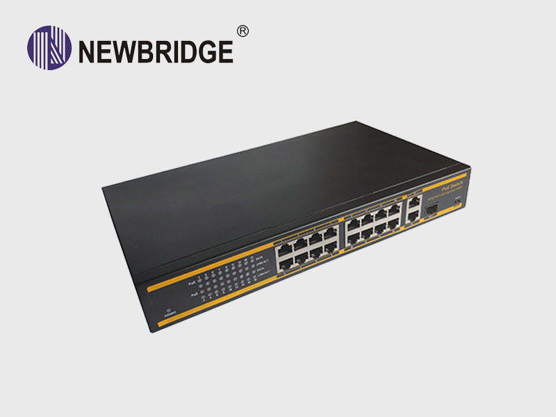 10/100Mbps PoE Ethernet Switch 16 Port 250W With 2*10/100/1000 Mbps Uplink Port